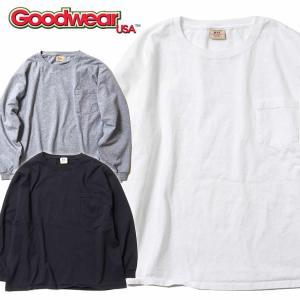 グッドウェア ポケット Tシャツ Goodwear BIG L/S CREW NECK POCKET TEE|mash-webshop
