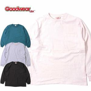 グッドウェア クルーネック ポケット Tシャツ Goodwear L/S CREW NECK POCKET TEE|mash-webshop