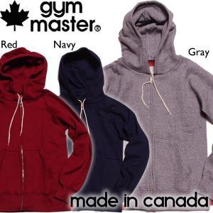 gymmaster ジムマスター ラグランスウェットフルジップフード Made in CANADA!! ジップパーカー|mash-webshop