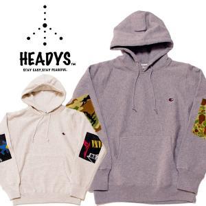 HEADYS ヘディーズ パッチヘビーフーディNew Brand! エルボーパッチ mash-webshop