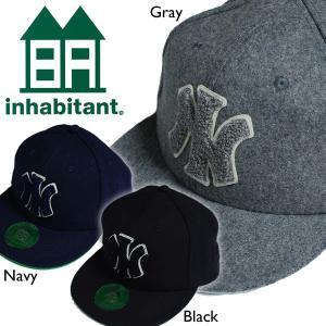 inhabitant インハビタント WOOL BASEBALL CAP 3colors ウールベースボールキャップ BB スナップバック|mash-webshop