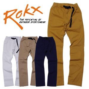 ROKX ロックス ストレッチ ジッパー パンツ ナローモデル|mash-webshop