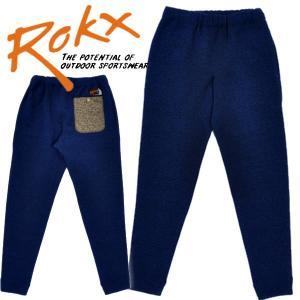 ROKX ロックス スウェットパンツ フリースパンツ グースパンツ Navy ネイビー GOOSE PANT mash-webshop
