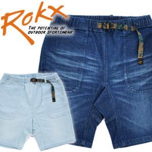ROKX ロックス デニム スリムショーツ ストレッチ ハーフパンツ ショートパンツ mash-webshop