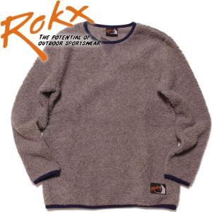 ROKX ロックスクラシックバーバープルオーバーボア クラシックフリース フリーススウェット mash-webshop