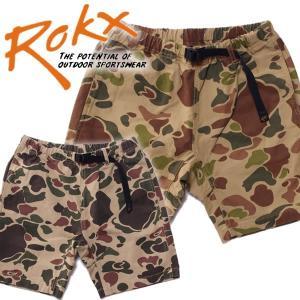 ROKX ロックスCAMOUFLAGE SHORT カモフラージュショーツ男女兼用 ダックカモ mash-webshop