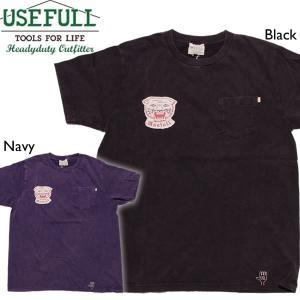 USEFULL ユースフル PANTHER POCKET TEE 白パンサーワッペンポケットTシャツ|mash-webshop