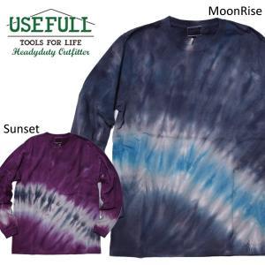 USEFULL ユースフル タイダイ ロングスリーブTシャツ SUNSET MOONRISE|mash-webshop