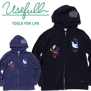 USEFULL ユースフル FREEDOM HOODIE ジップアップパーカ 刺繍|mash-webshop