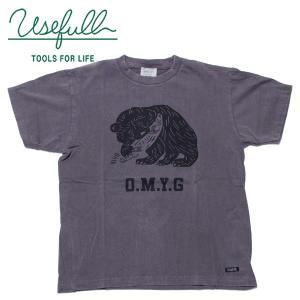 USEFULL ユースフルO.M.Y.G TEEお土産 熊の木彫 カレッジプリント風|mash-webshop