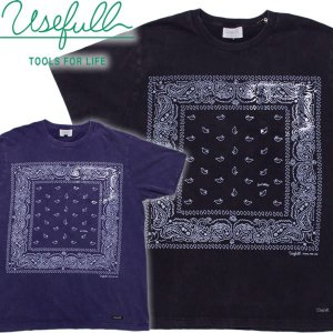 USEFULL ユースフルBANDANA POCKET TEEバンダナ柄 USED加工ポケットTシャツ|mash-webshop