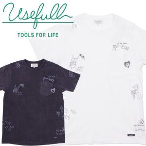 USEFULL ユースフル ハンドグラフィティ USED加工 ポケットTシャツ|mash-webshop