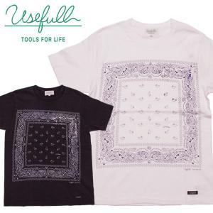USEFULL ユースフル バンダナ柄 USED加工 ポケットTシャツ|mash-webshop