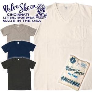Velva Sheen ベルバシーン ヴェルバシーン Vネック Tシャツ 2パック ポケット付き|mash-webshop