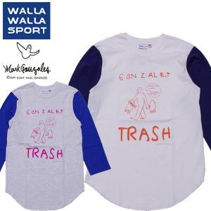 WALLA WALLA SPORT ワラワラスポーツ × マークゴンザレス 七分袖 ベースボールTシャツ|mash-webshop