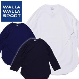 WALLA WALLA SPORT ワラワラスポーツ Tシャツ ベースボール 日本製 七分袖 ラグラン|mash-webshop