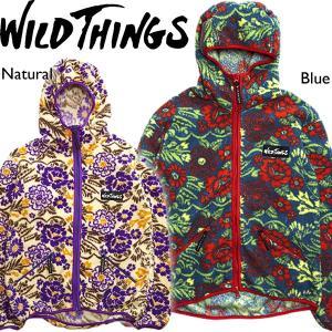 Wild Things ワイルドシングス フラワーフリース フードジャケット ワイシン アウター 総柄|mash-webshop