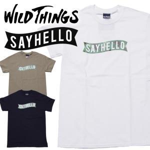 Wild Things×SAYHELLO ワイルドシングス×セイハローPRINT TEE BASIC LOGO CLIMBER CAMO|mash-webshop