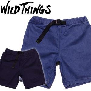 WILD THINGS ワイルドシングス クライミングショーツ インディゴ ハーフパンツ ストレッチデニム|mash-webshop