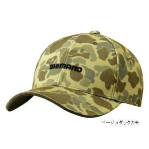 プリントキャップ CA-071S フリー ベージュダックカモ シマノ