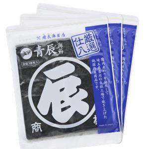 大関 青辰(あおたつ)焼のり18枚×3袋|mastaz-audio