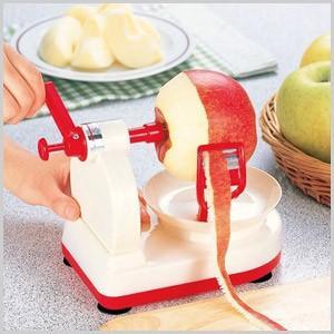 味わい食房 回転式りんごの皮むき器 りんご 林檎 梨 果物 簡単 皮むき キッチン 便利グッズ ARK-650|masuda-shop