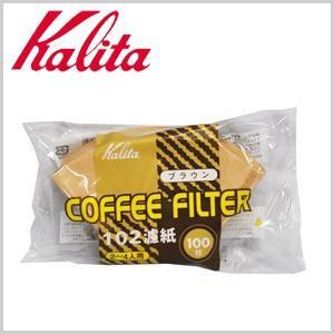 カリタ Kalita コーヒーフィルター 102 濾紙 100枚入 ブラウン ろ紙 ろし ロシ|masuda-shop