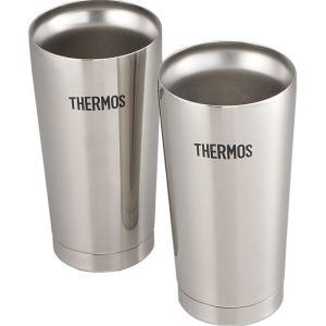 サーモス THERMOS 真空断熱 ビアタンブラー 400ml 2個セット 保冷 保温 コップ 魔法びん 飲み頃 温度 キープ JMO-GP2|masuda-shop