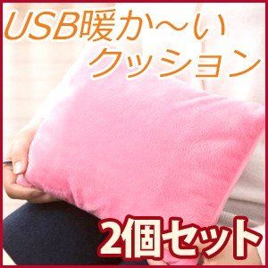 1個あたり500円 あったか 電気クッション 2個セット USB 洗える  冷え対策 保温グッズ クッション USBウォーマー クッション|masuda-shop