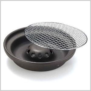煙の出にくい焼肉鍋 焼肉 焼き肉 鍋 ナベ なべ 焼肉プレート 焼き肉プレート 焼き網 焼網 焼肉グリル 卓上 卓上鍋 卓上グリル ガスコンロ 33-01-10|masuda-shop