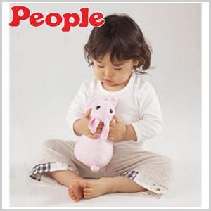 リアルな泣き声 音感センサー うさぎ ぬいぐるみ ピープル おひざにのんのちゃん おもちゃ 女の子 ヌイグルミ おくるみ1枚付き  ウサギ リアル 動物 小動物|masuda-shop