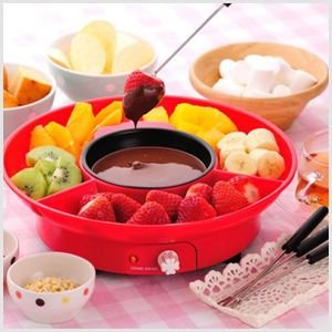 チョコフォンデュ チョコレート フォンデュ チョコ フォンデュセット パーティー 加熱 鍋 電気 調理器具 機械 お菓子作り SCF-10|masuda-shop