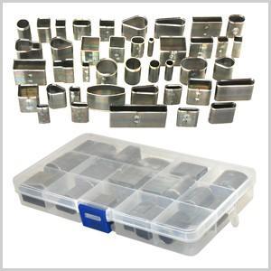 レザークラフト 道具 41本セット レザークラフト用 型抜きパンチ 型抜き 抜き型 レザークラフト クラフト 革 シェイプパンチ パンチ ツール 道具|masuda-shop
