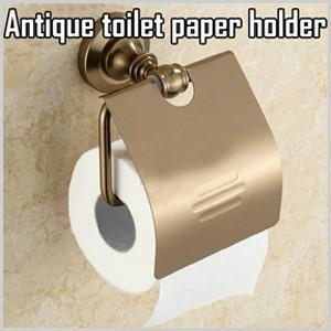 【送料無料】 トイレットペーパーホルダー ゴールド ペーパーホルダー 紙巻器 トイレ 収納 トイレットペーパー ペーパー ホルダー アンティーク風 アンティーク|masuda-shop