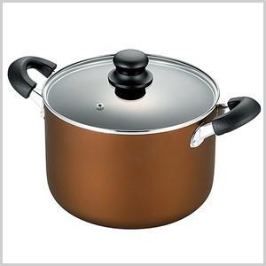 ヒロショウ シチューポット ゴールドマーブル 22cm ポット 鍋 なべ ナベ 両手鍋 油 少なめ 調理 料理 調理用具 ヘルシー シチュー GM-19|masuda-shop