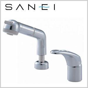 三栄水栓 SANEI 洗面用混合栓 シングルスプレー混合栓 洗髪用 K3761JV-C-13