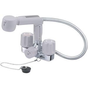 【着後レビューで送料無料】三栄水栓 SANEI 洗面用混合栓 ツーバルブスプレー混合栓 洗髪用 K3104VR-LH-13|masuda-shop