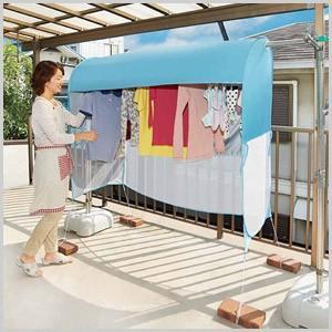 雨よけ テント 洗濯物テント UVカットプラス 日よけ ベランダ カーテン 雨 ホコリ 洗濯 洗濯物 目隠し 日差し 紫外線 カット UVカット 色あせ コジット|masuda-shop