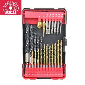 ドリルビット 六角軸 セット 穴あけドリル ビット 32点 ドリル刃 キリ 鉄工 木工 超硬 ネジ締め B-MOBILE ドリルセット 32PCS SCS-106 SK11