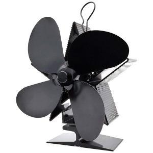 ストーブ ファン 放熱設計ファンブレード 空気循環 温風循環 スター 星型 薪ストーブ 石油ストーブ...