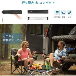 ロールテーブル・キャンプ用品 Linkax アルミ製 アウトドアテーブル 耐荷重30kg 専用収納袋付き (折畳テーブル)|masukosyouten