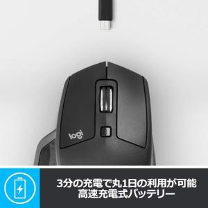 ロジクール ワイヤレスマウス 無線 マウス MX Master 2S MX2100sGR Unifying Bluetooth 高速充電式|masukosyouten
