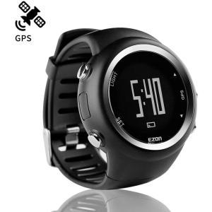 ランニングウォッチ GPS 腕時計 デジタル ウォッチ 防水 軽量 Bluetooth搭載 歩数計 EZONT031B01|masukosyouten