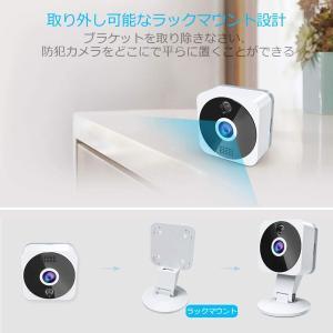 ネットワークカメラ wifi,ZZCP 1080P 200万画素監視カメラ 小型防犯カメラ ベビーモニター ペット 見守り 留守番 広角 i|masukosyouten