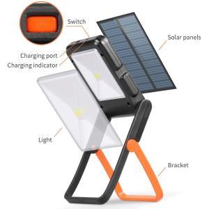 LEDランタン キャンプランタン キャンプライト 小型 2in1給電方法 ソーラーライト 電池式usb 充電式 携帯型 ライトスタンド付 テ|masukosyouten