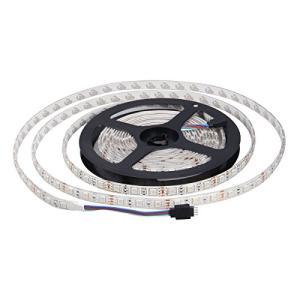 LEDテープ 5m SMD5050 防水 300連 RGB 44キー コントローラ 正面発光 12V 切断可能 自転車 カラオケ 建築装飾照|masukosyouten