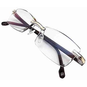 ZIG's 知的&クール,高級感?リムレス ブルーライトカットメガネ 軽量 カットレンズ 優雅なブラウン Unisex (glbn02br=|masukosyouten