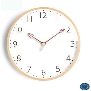時計 おしゃれ 壁掛け時計 クロック 掛け時計 北欧 木製時計 かわいい 円形 見やすいシンプルな文字盤 連続秒針 静音 無音 天然木 飾り付け 電池 masukosyouten