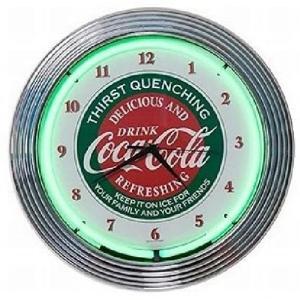コカ・コーラ ネオン クロック レトロ 壁掛時計 [並行輸入品] masukosyouten