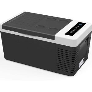 F40C4TMP 車載冷蔵庫 18L -22℃10℃ 2WAY電源対応 車載冷蔵冷凍庫 12V 24V ポータブル冷蔵庫 静音 AC/DC 家庭用電|masukosyouten
